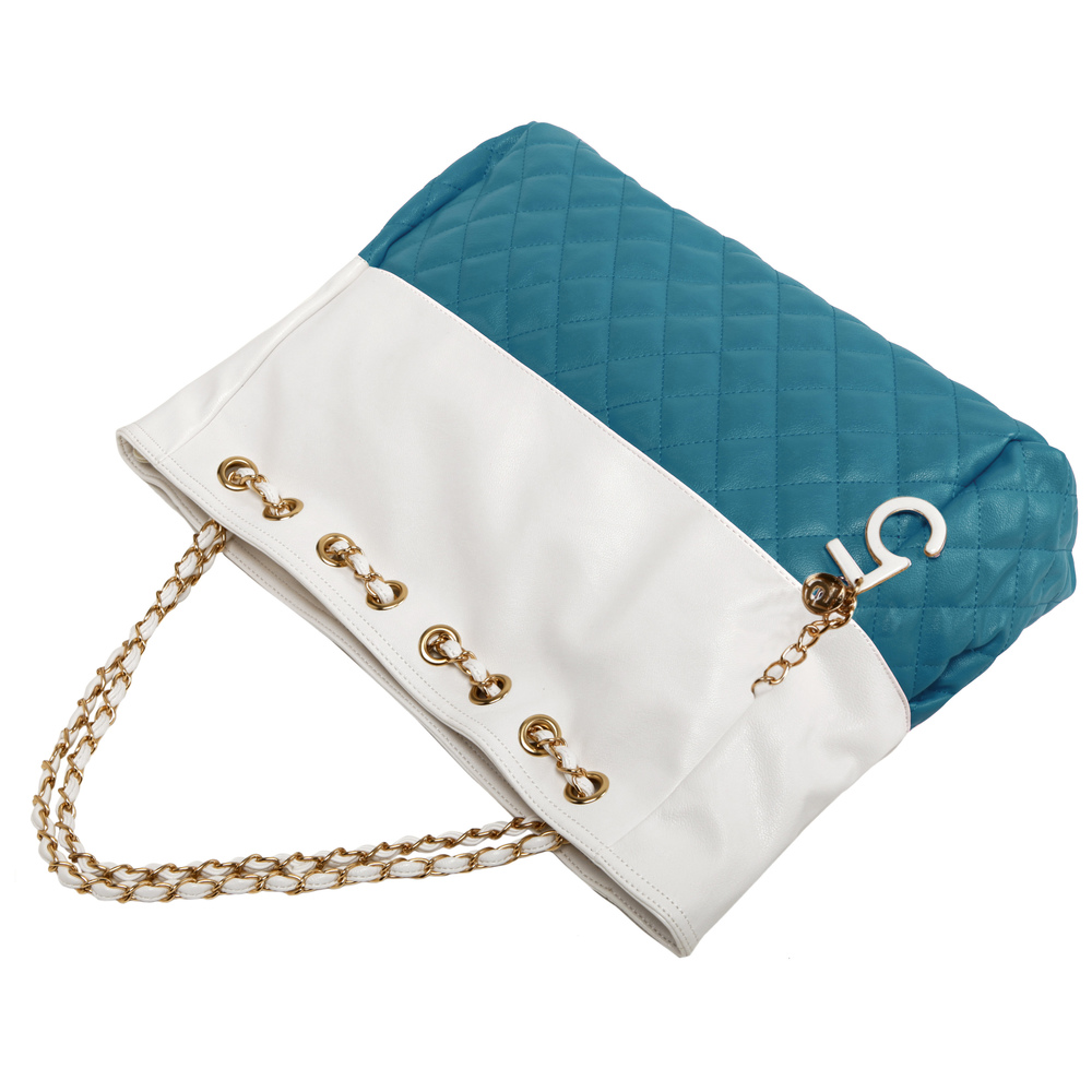 CAMRYN Turquoise Shoulder Weekender Tote Handbag handle