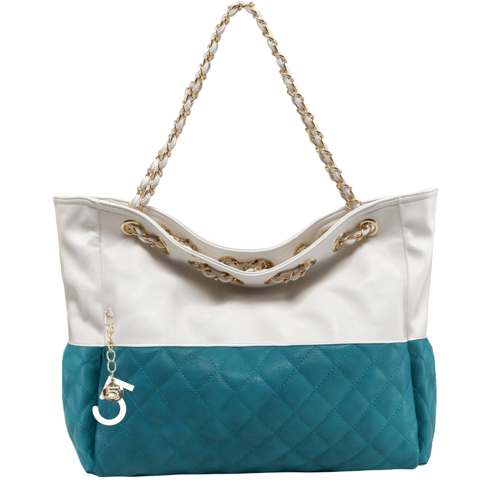CAMRYN Turquoise Shoulder Weekender Tote Handbag main