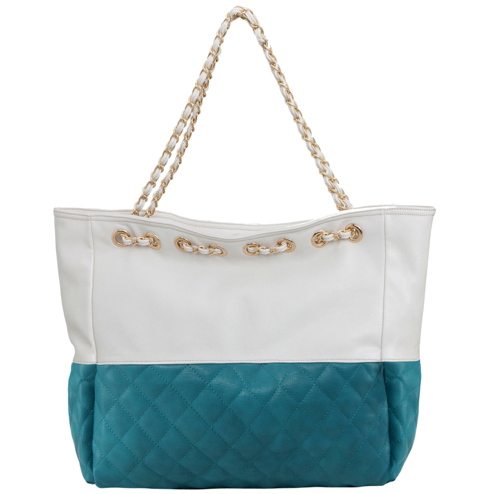 CAMRYN Turquoise Shoulder Weekender Tote Handbag back