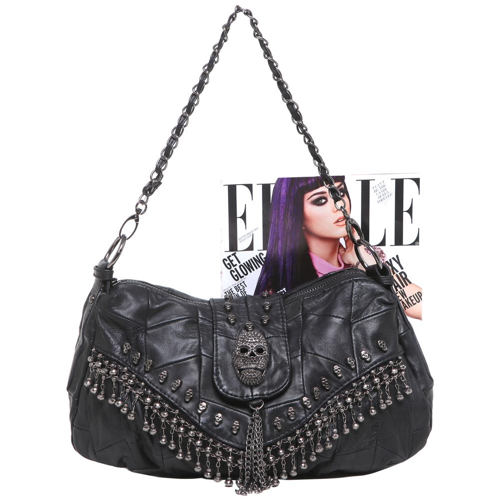 PARKIN Black Gothic Shoulder Bag size