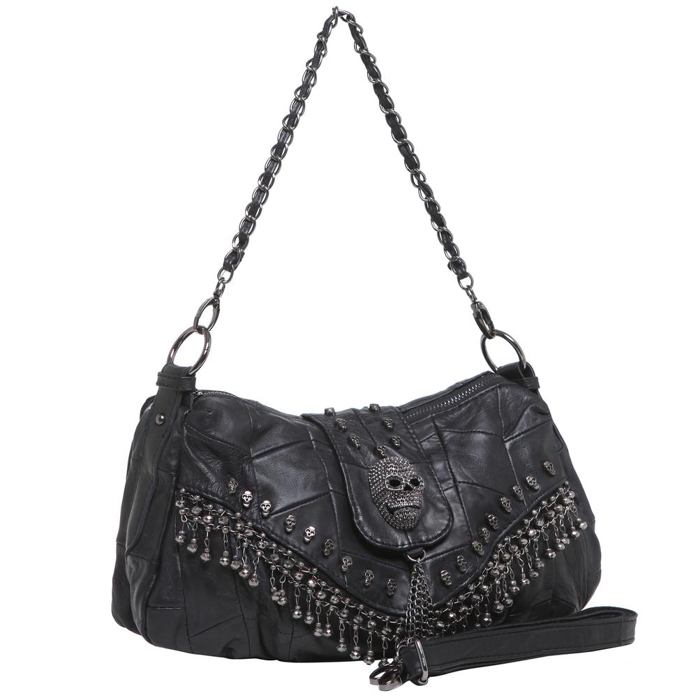 PARKIN Black Gothic Shoulder Bag front