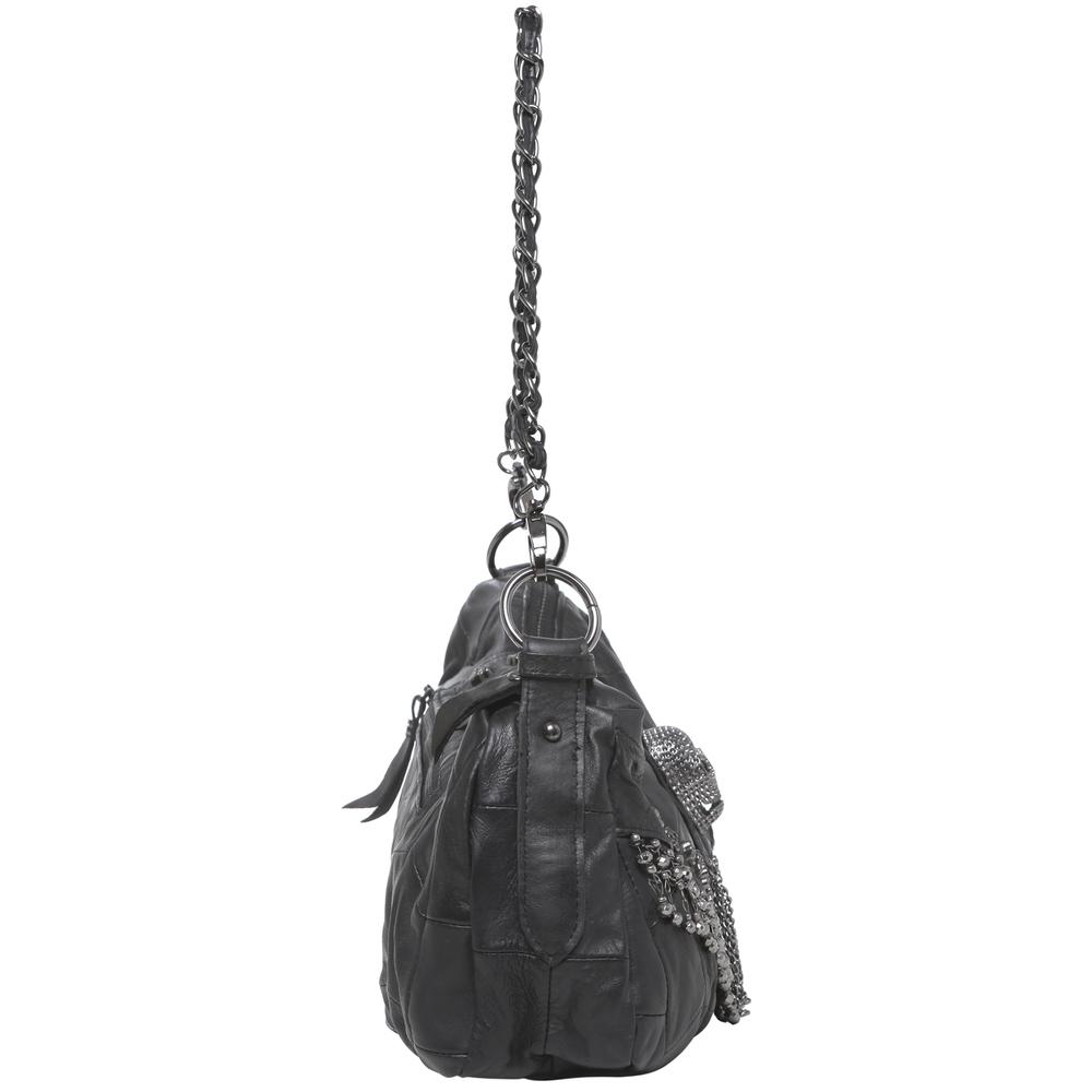 PARKIN Black Gothic Shoulder Bag side