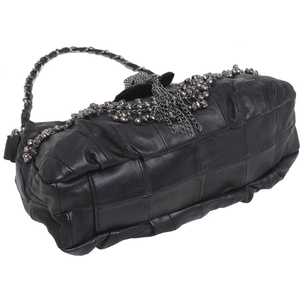 PARKIN Black Gothic Shoulder Bag bottom