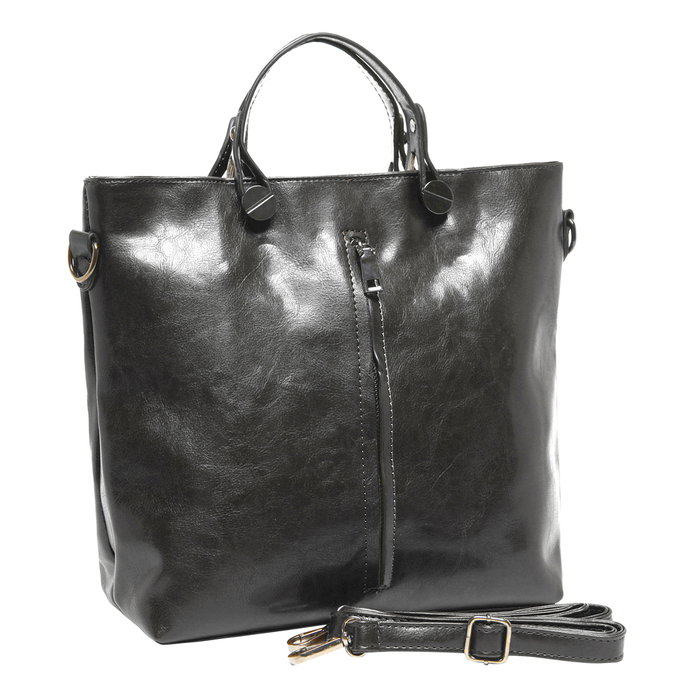 ALDIS Black Top Handle Office Tote Handbag main