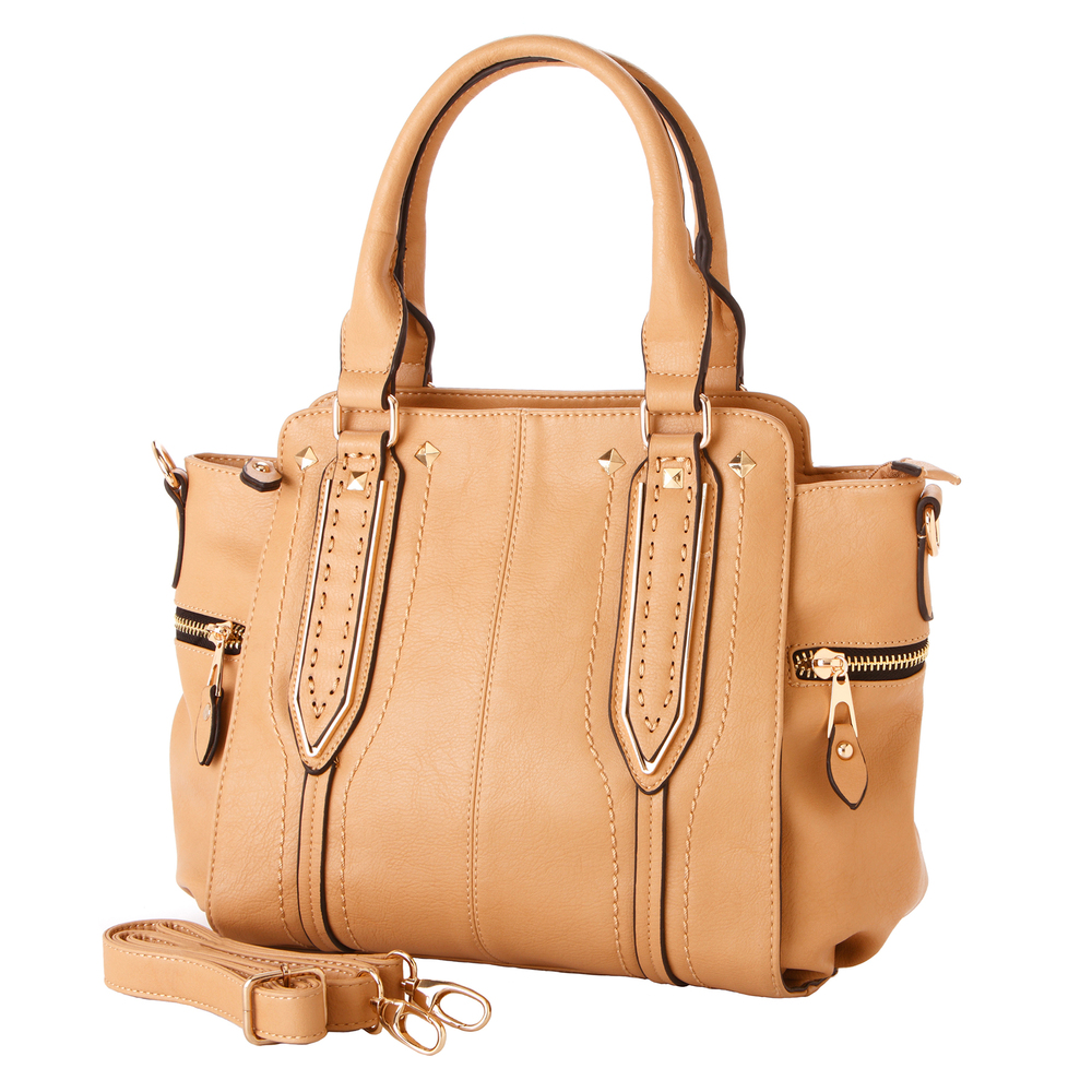 NORI Apricot Top Handle Office Tote Style Satchel HNORI Apricot Top Handle Office Tote Style Handbag mainandbag