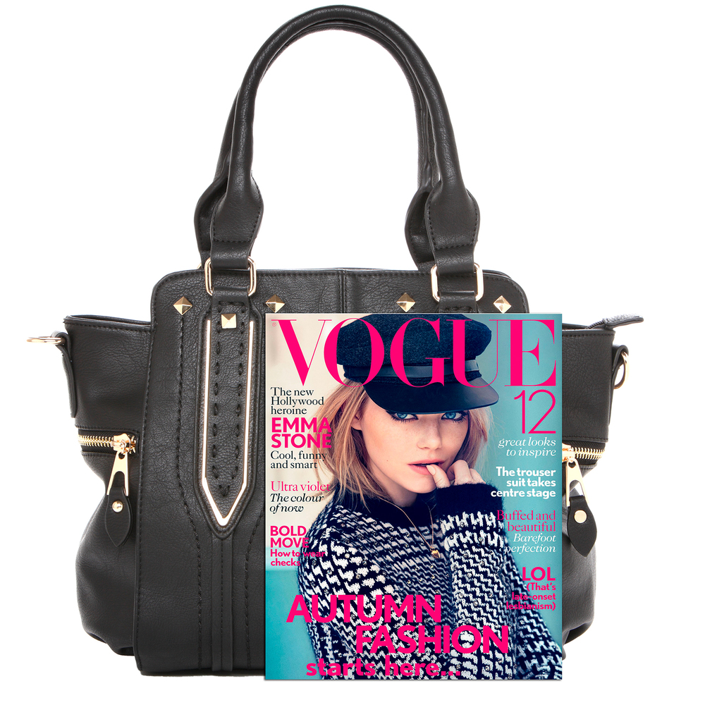 NORI Black Top Handle Office Tote Style Handbag size