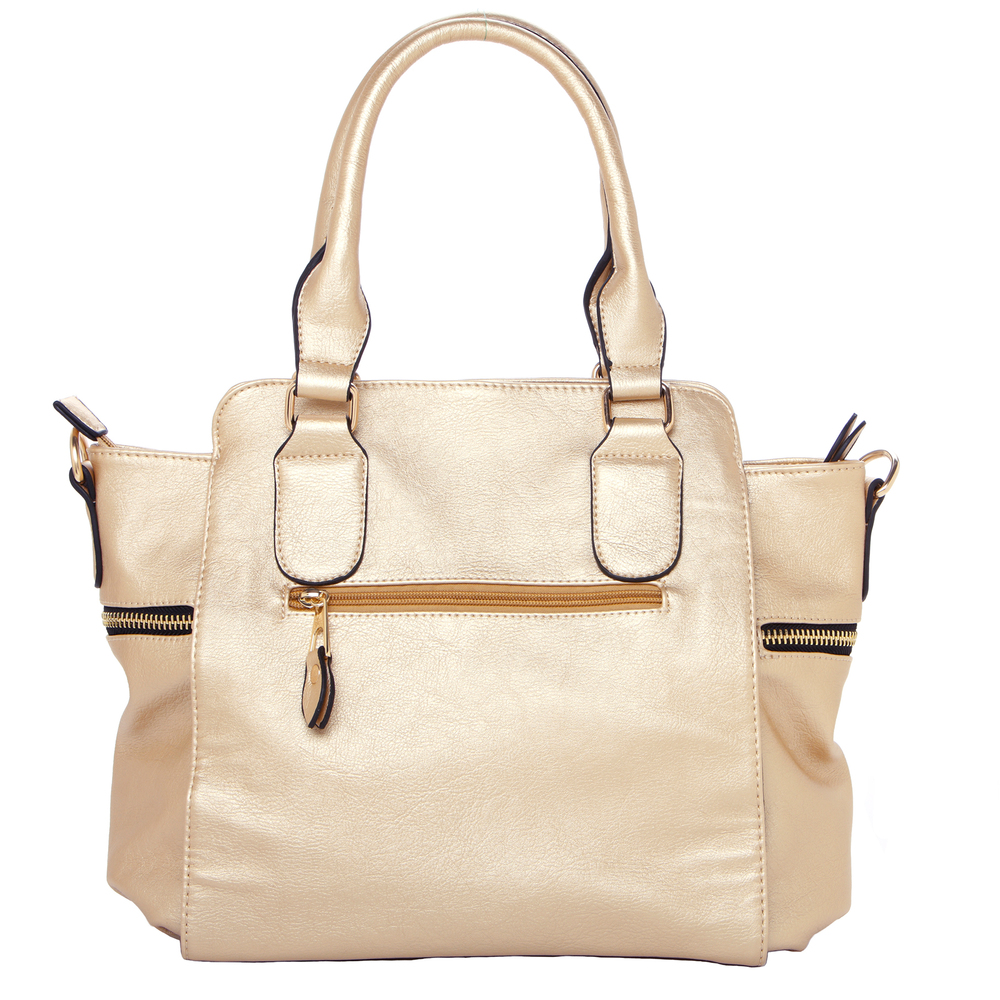 NORI Gold Top Handle Office Tote Style Handbag back