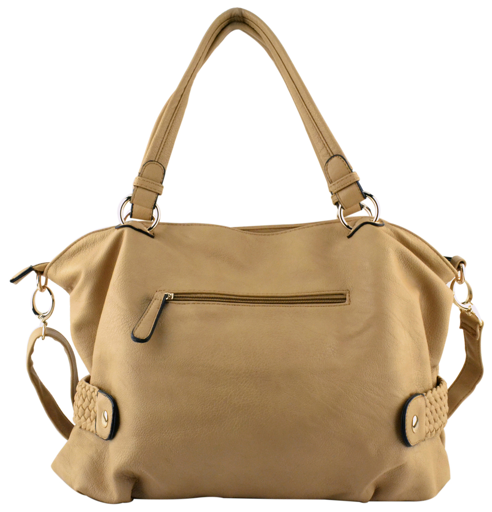 SAMANTHA Beige Soft Hobo Handbag 2