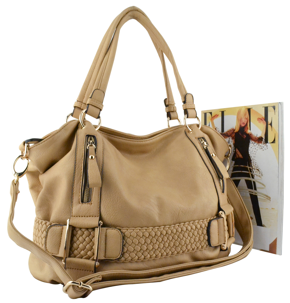 SAMANTHA Beige Soft Hobo handbag 4