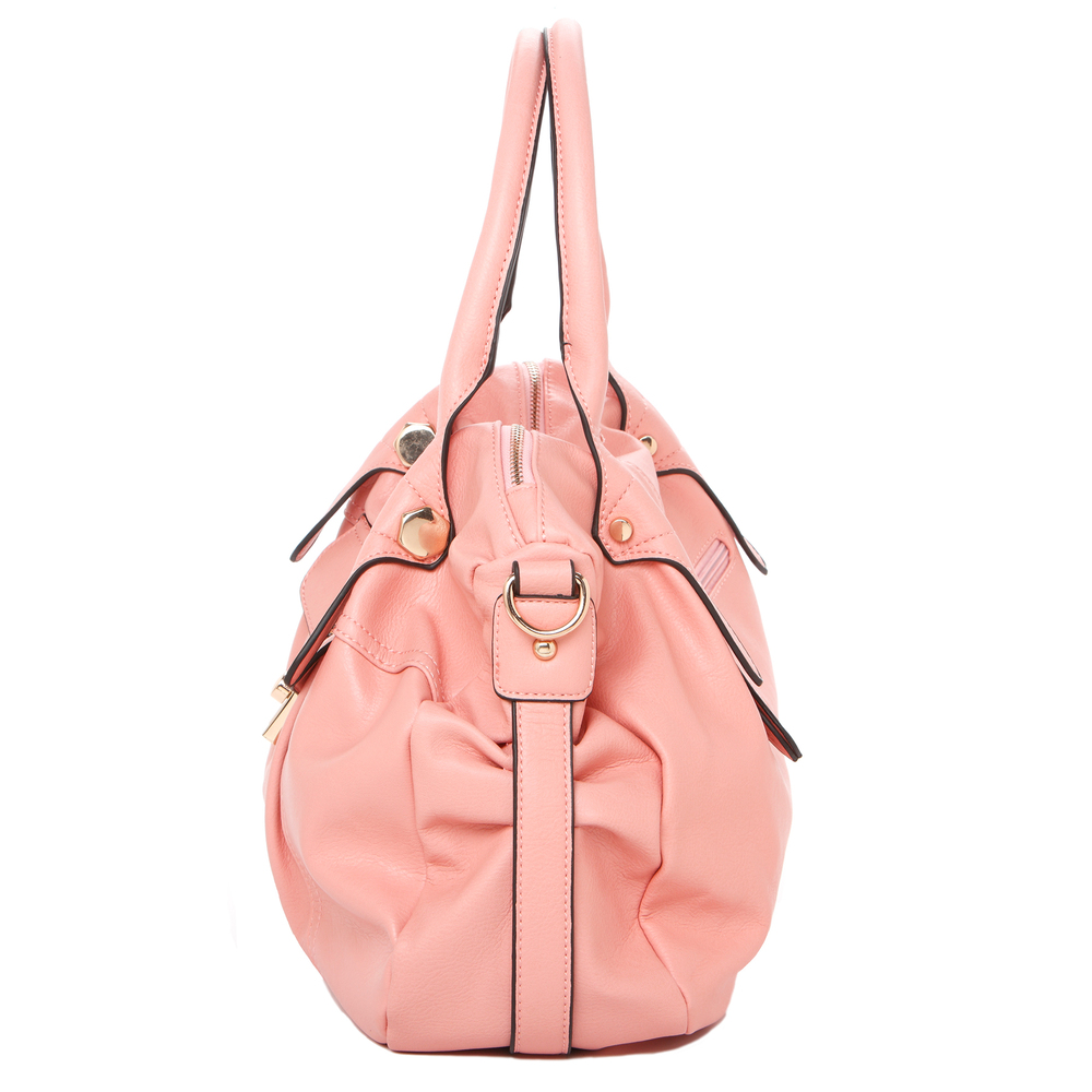 CAME Pink Office Tote Style Satchel Handbag Side