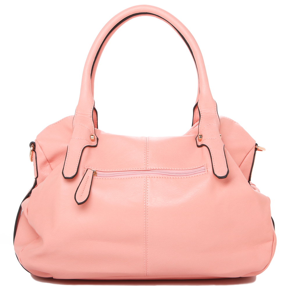 CAME Pink Office Tote Style Satchel Handbag Back