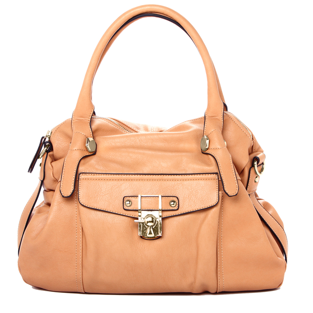 CAME Apricot Office Tote Style Satchel Handbag front