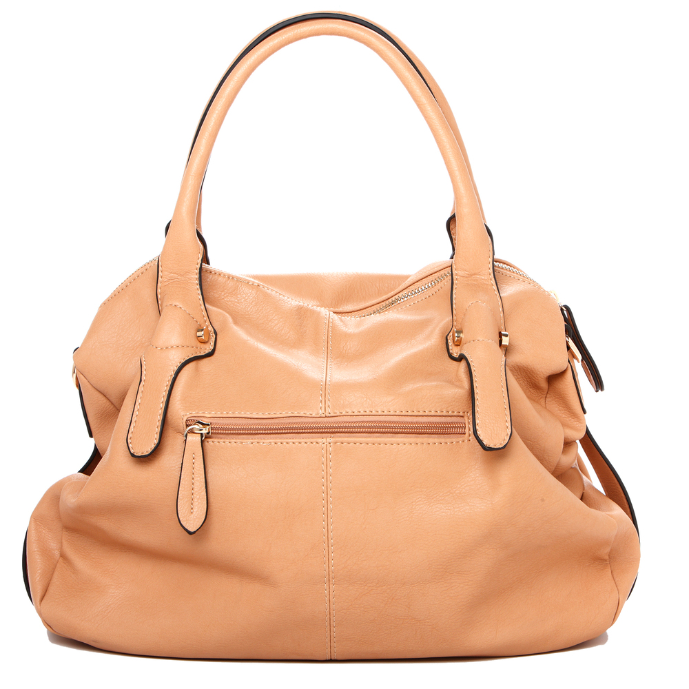 CAME Apricot Office Tote Style Satchel Handbag Back