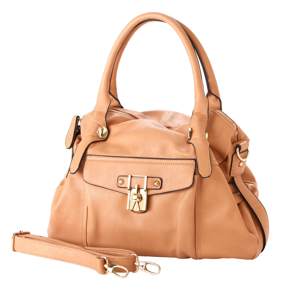 CAME Apricot Office Tote Style Satchel Handbag main