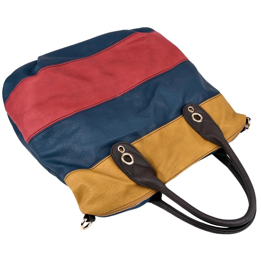 MAYA Blue Large Shopper Hobo Handbag Handle