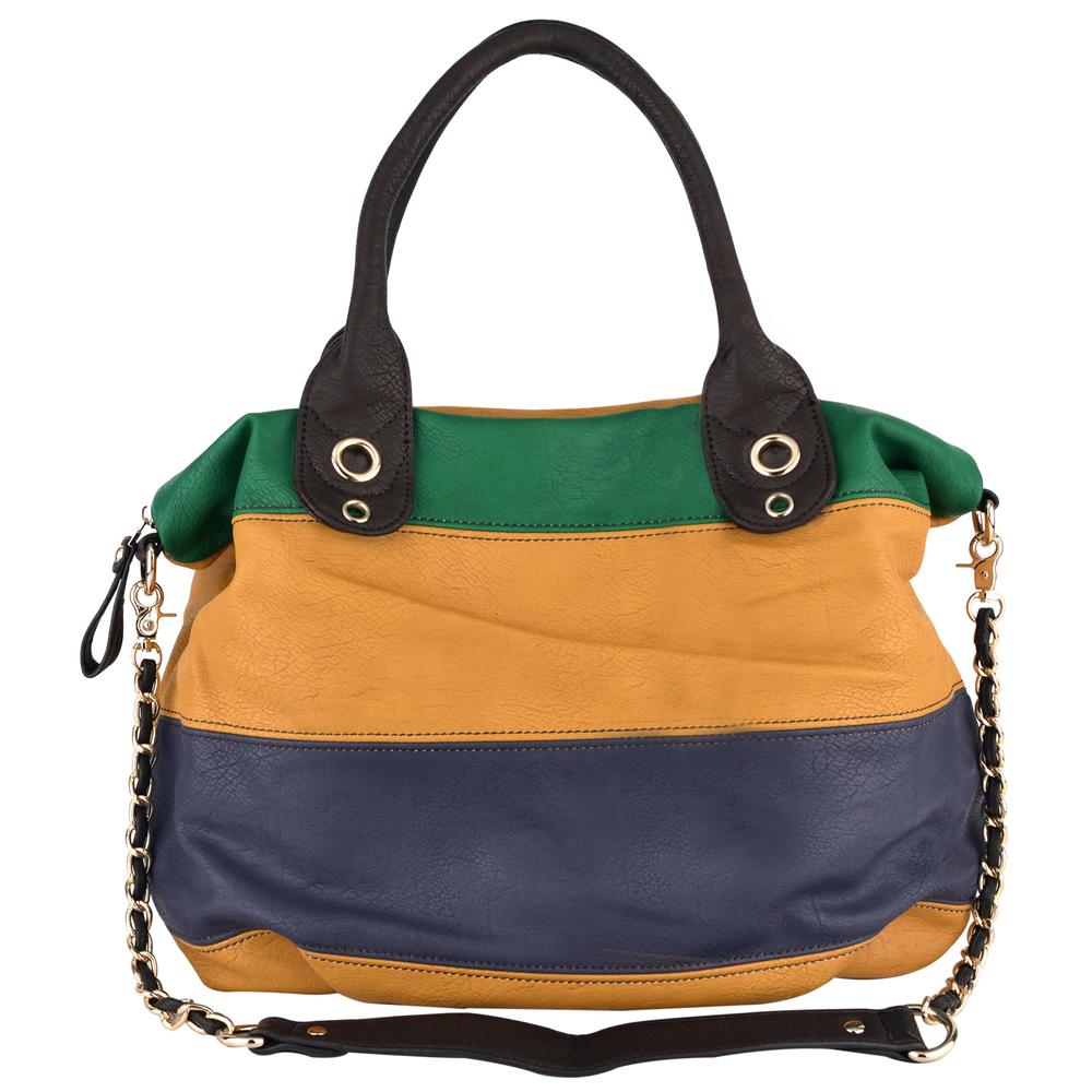 MAYA Yellow Hobo Handbag Front