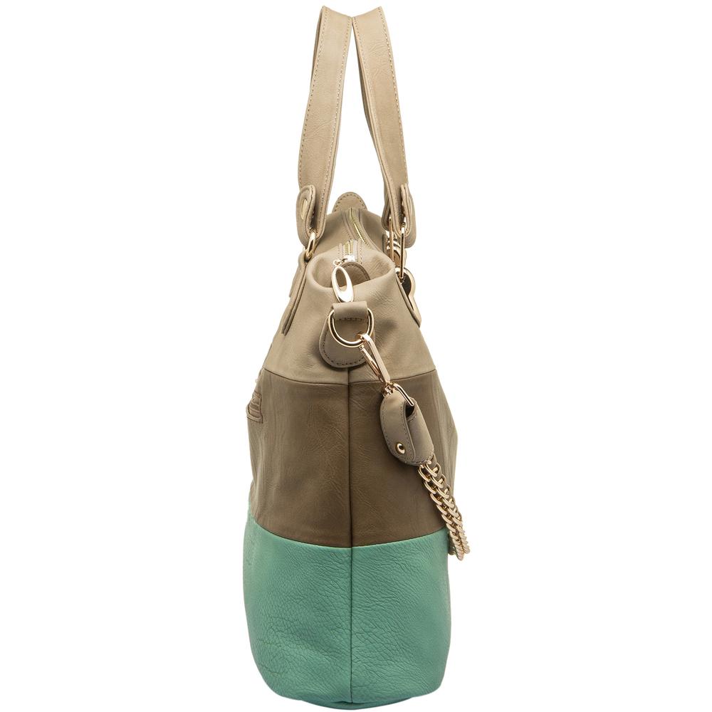 ECE Turquoise Tri-tone Hobo Handbag Side