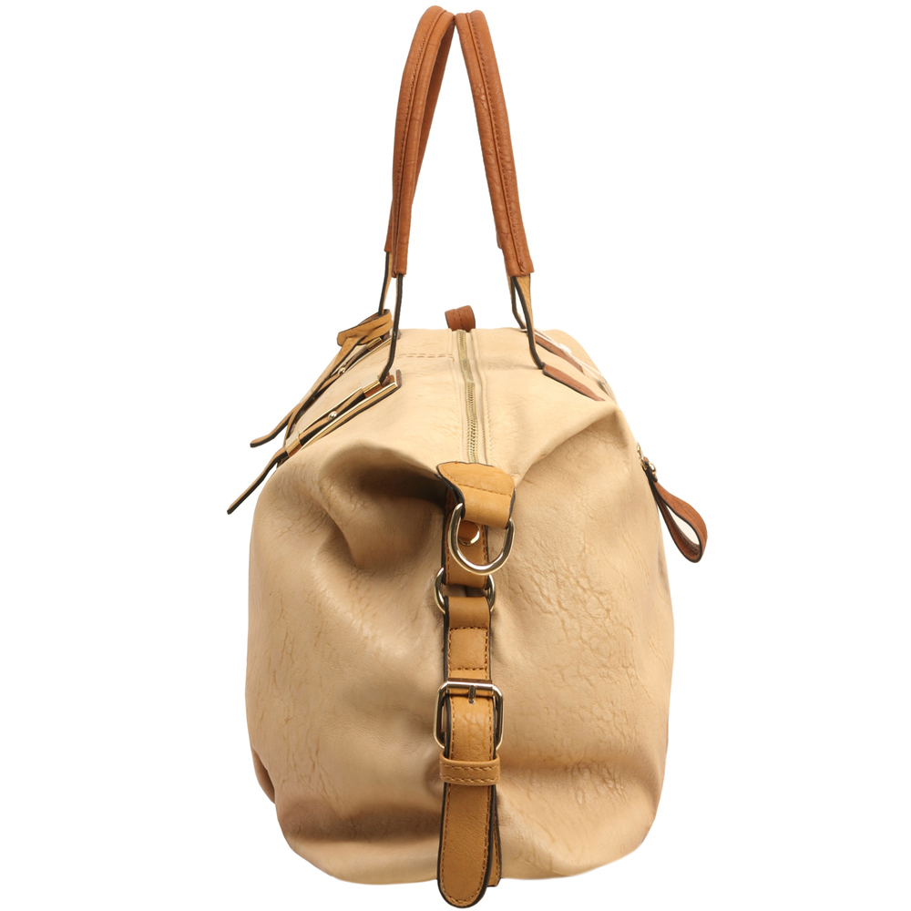 ACACIA Nude Large Everyday Shopper Hobo Handbag Side