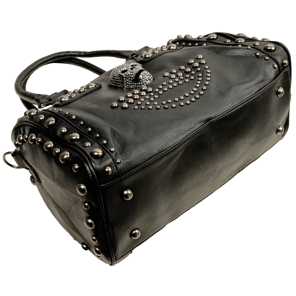 HOWEA Black Gothic Bowling Style Tote Bottom