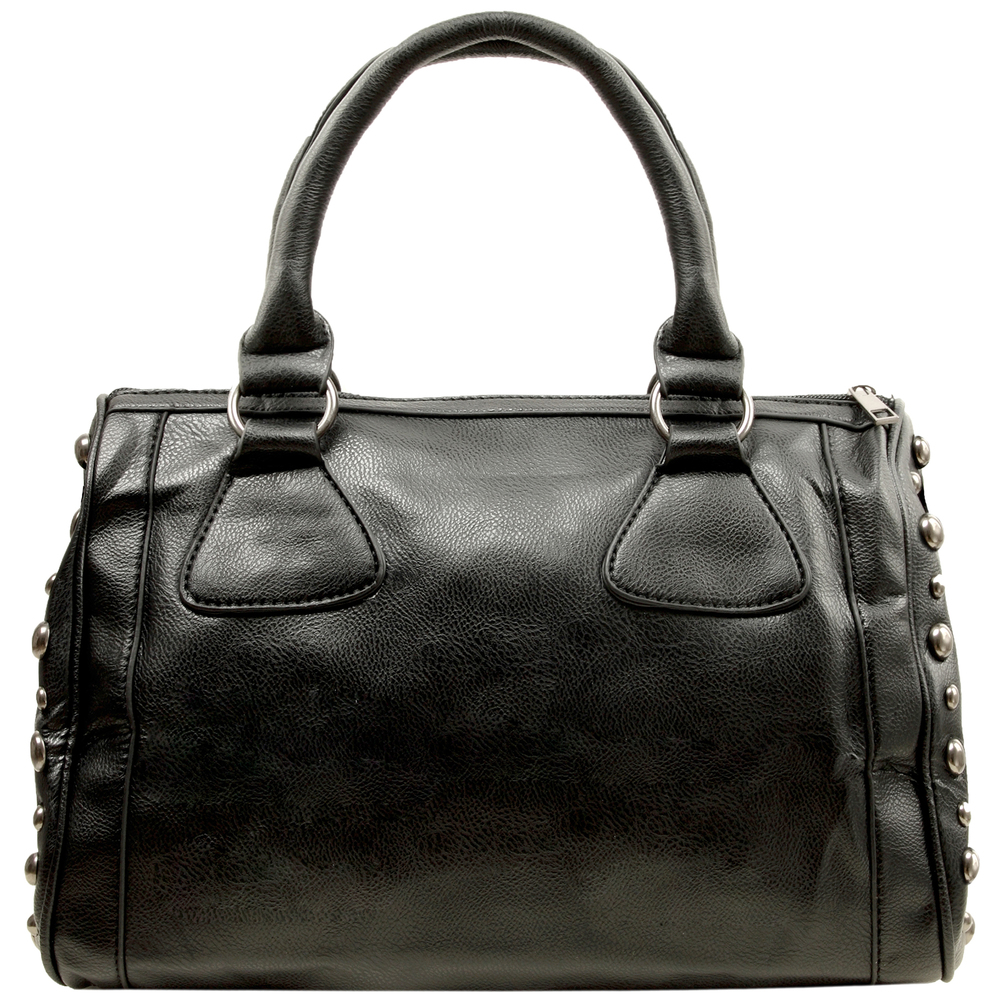 HOWEA Black Gothic Bowling Style Tote Back