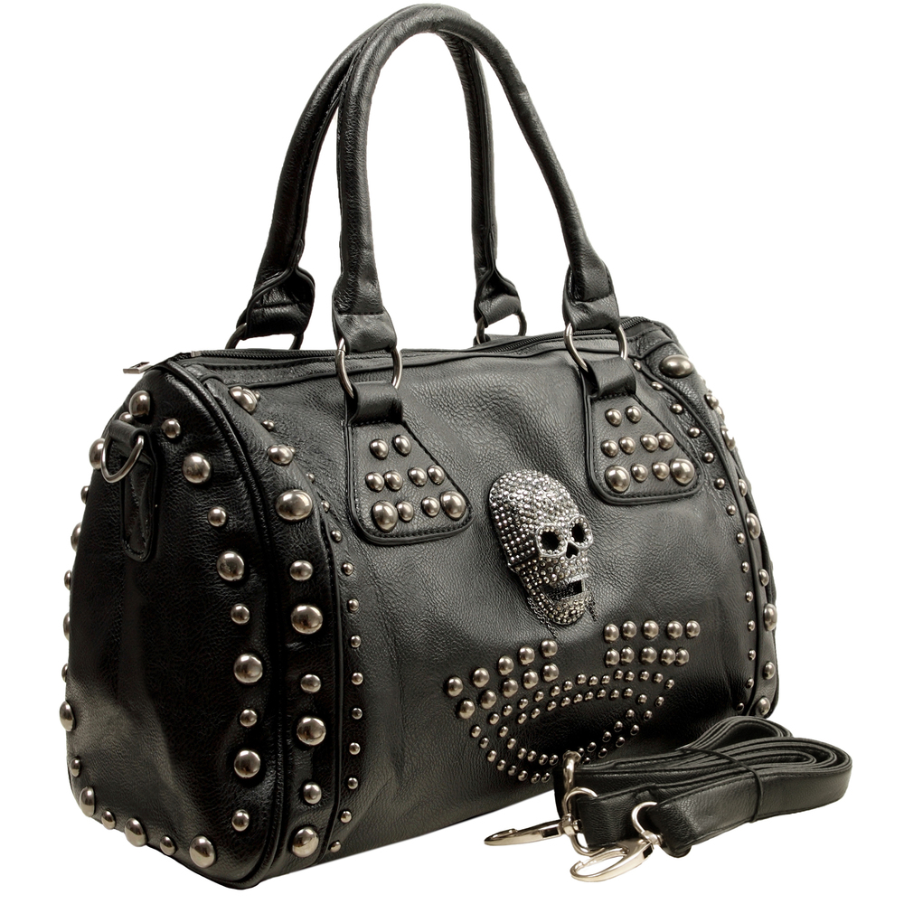 HOWEA Black Gothic Bowling Style Tote Main