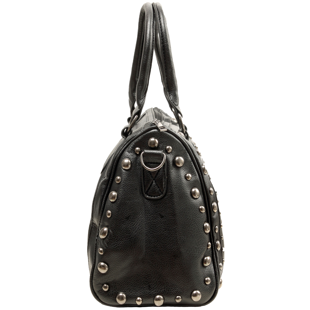 HOWEA Black Gothic Bowling Style Tote Side