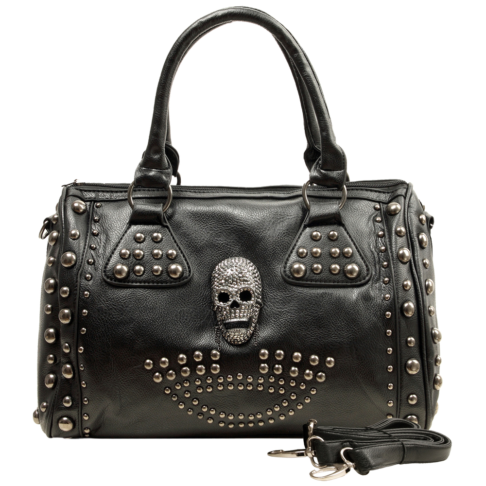 HOWEA Black Gothic Bowling Style Tote Front