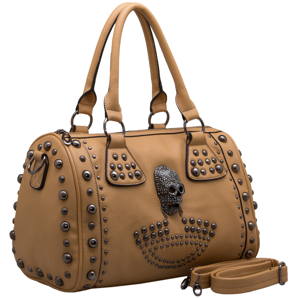 HOWEA Khaki Gothic Bowling Style Tote Main