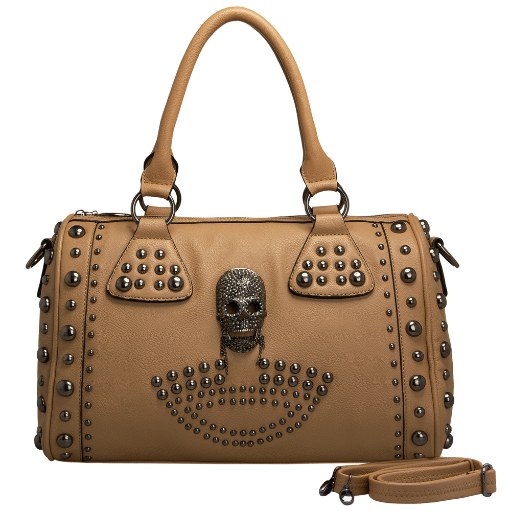 HOWEA Khaki Gothic Bowling Style Tote Front