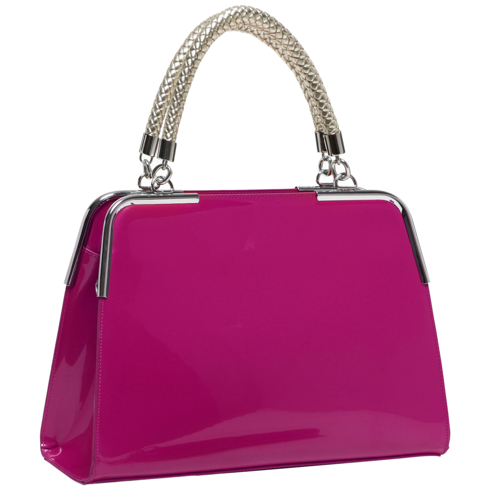 MATANA Pink Gloss Tote Purse Main