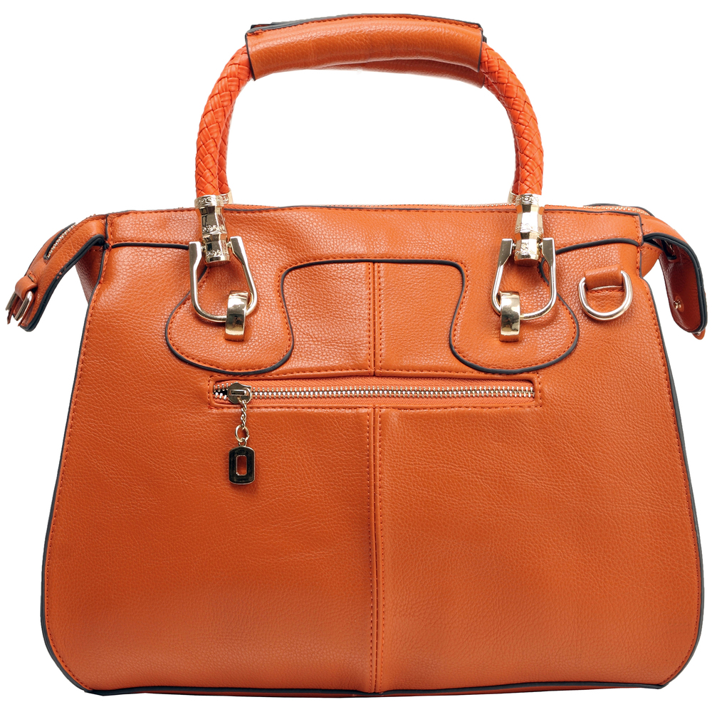 MARISSA Orange Doctor Style Handbag Back