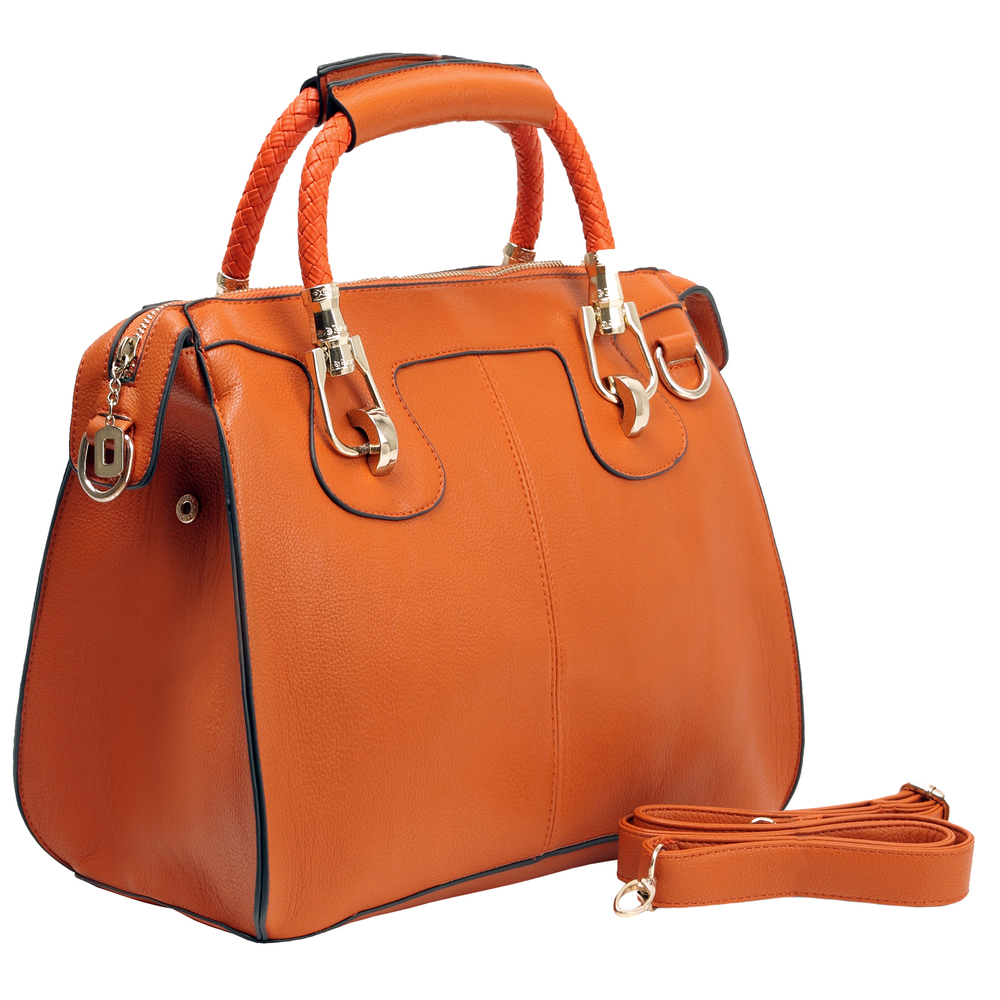 MARISSA Orange Doctor Style Handbag Main