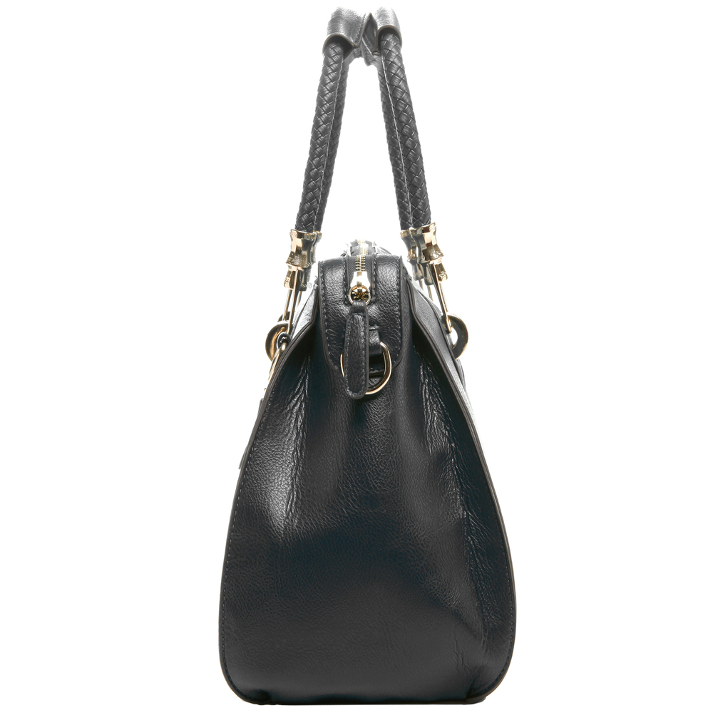MARISSA Black Doctor Style Handbag Side