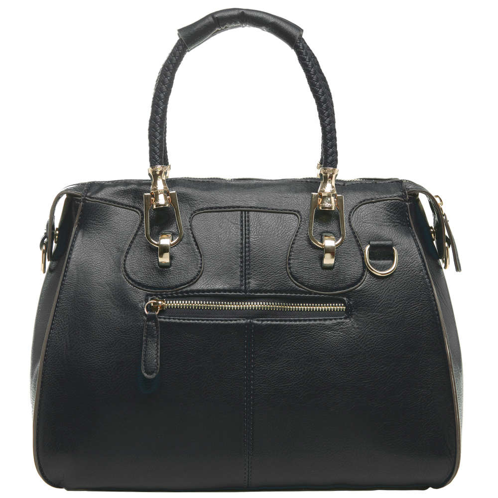 MARISSA Black Doctor Style Handbag back