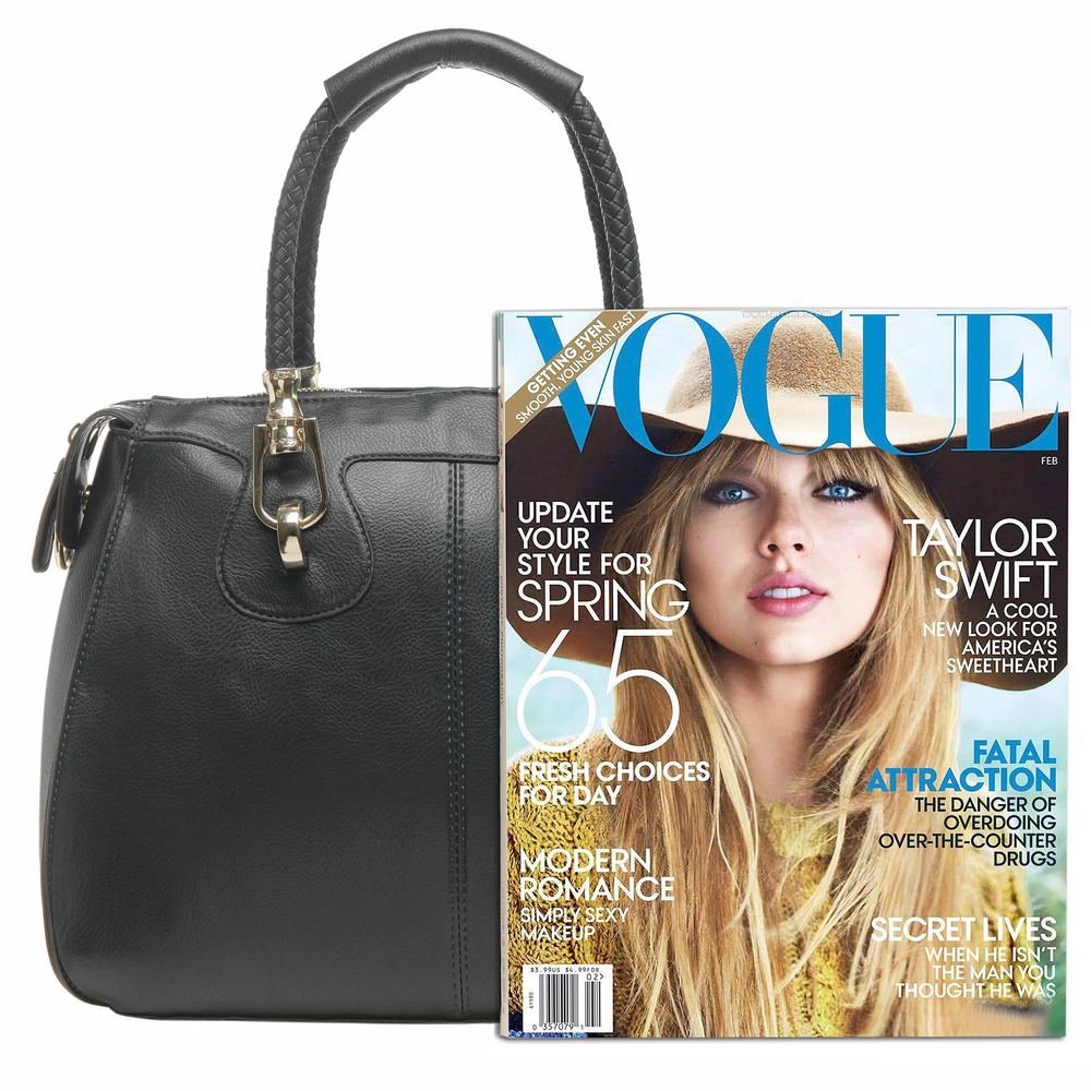 MARISSA Black Doctor Style Handbag Size