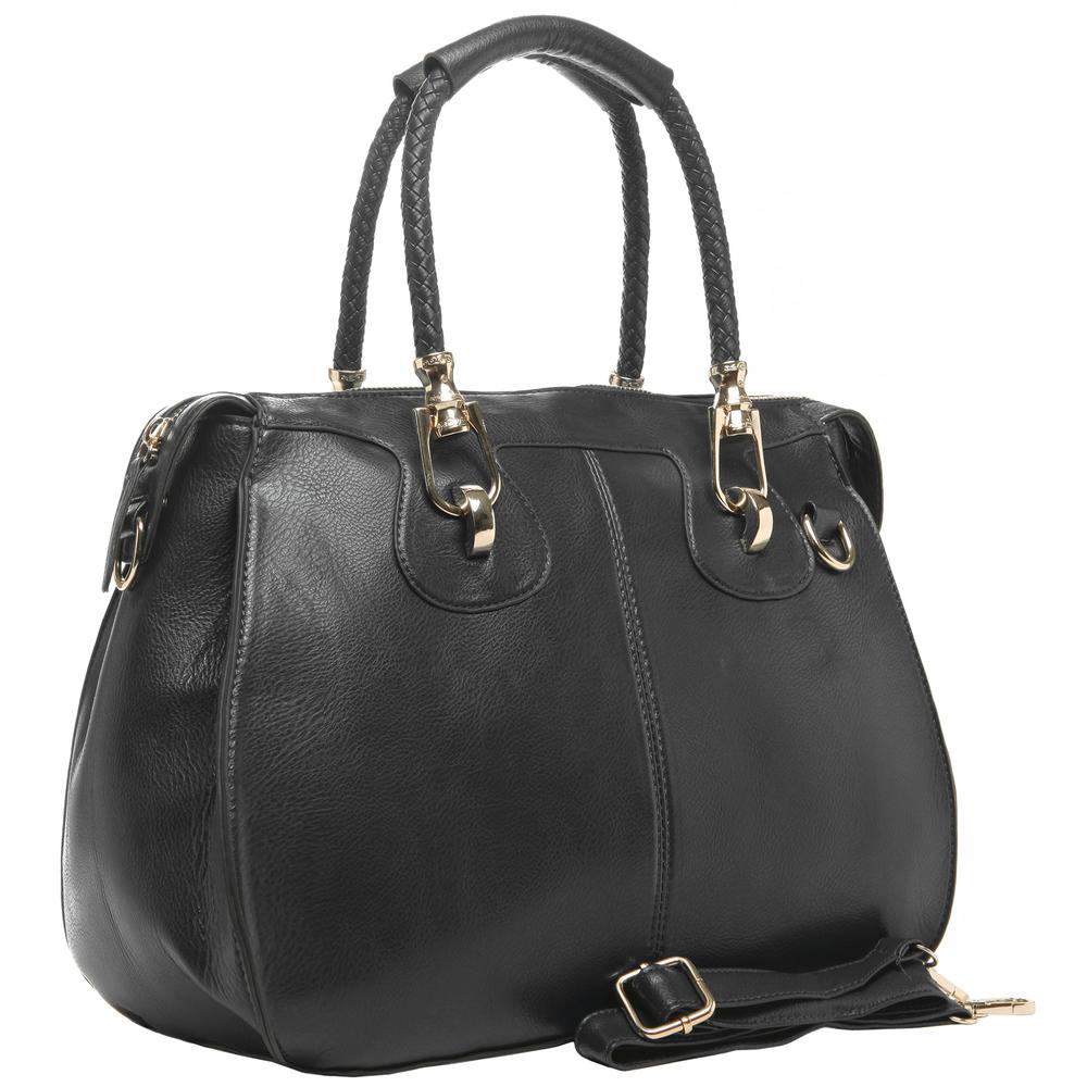 MARISSA Black Doctor Style Handbag Main