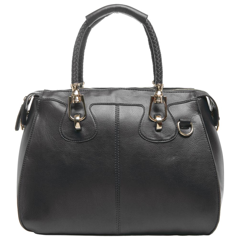 MARISSA Black Doctor Style Handbag Front