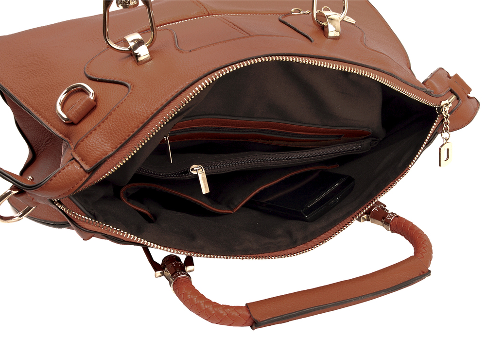 MARISSA Brown Doctor Style Handbag Interior