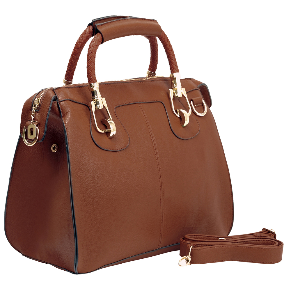 MARISSA Brown Doctor Style Handbag Main