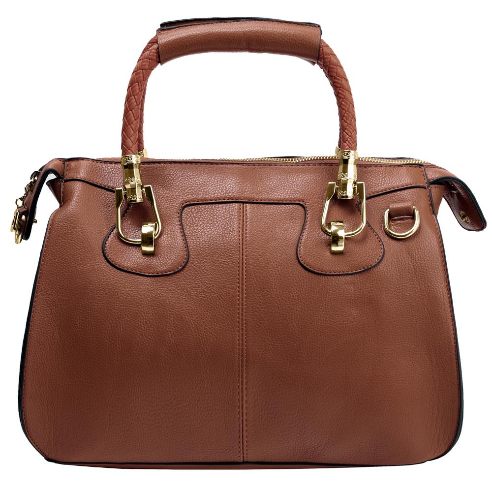 MARISSA Brown Doctor Style Handbag Front
