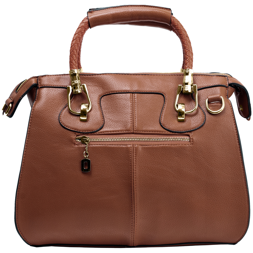 MARISSA Brown Doctor Style Handbag Back