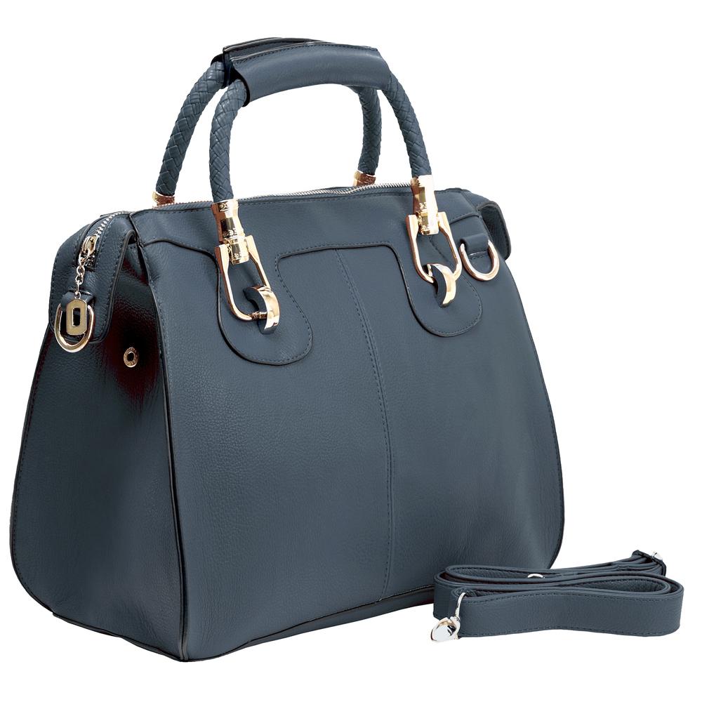 MARISSA Navy Blue Doctor Style Handbag Main