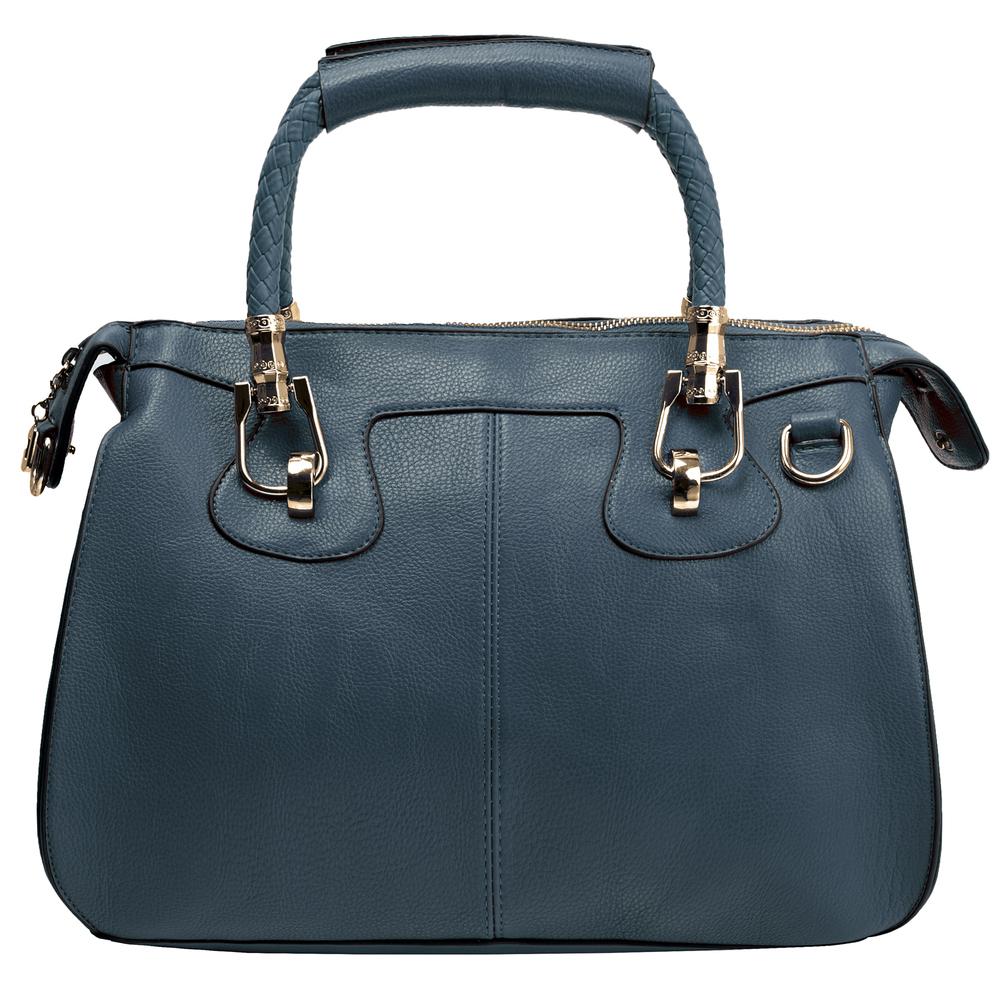 MARISSA Navy Blue Doctor Style Handbag Front