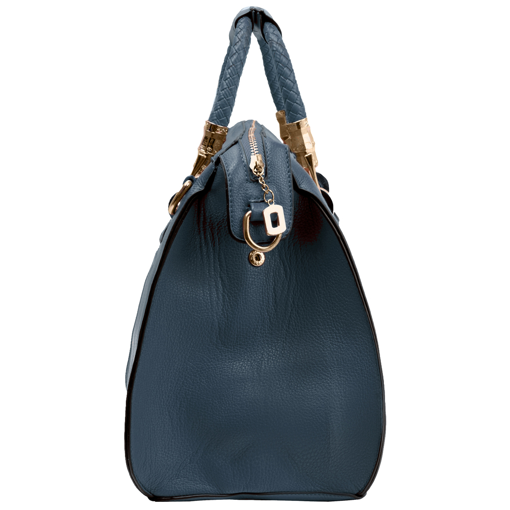 MARISSA Navy Blue Doctor Style Handbag Side