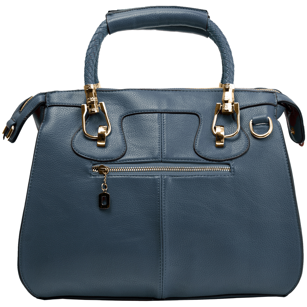 MARISSA Navy Blue Doctor Style Handbag Back