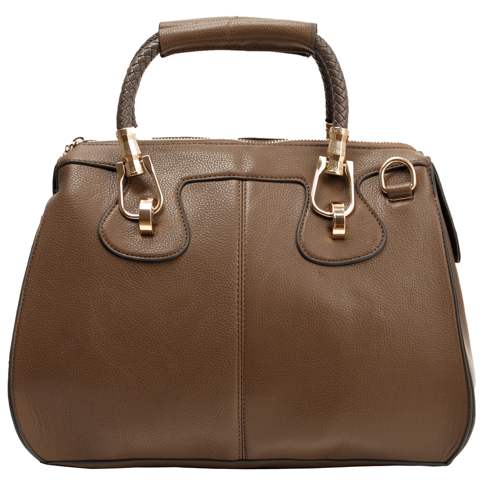 MARISSA Taupe Doctor Style Handbag Front