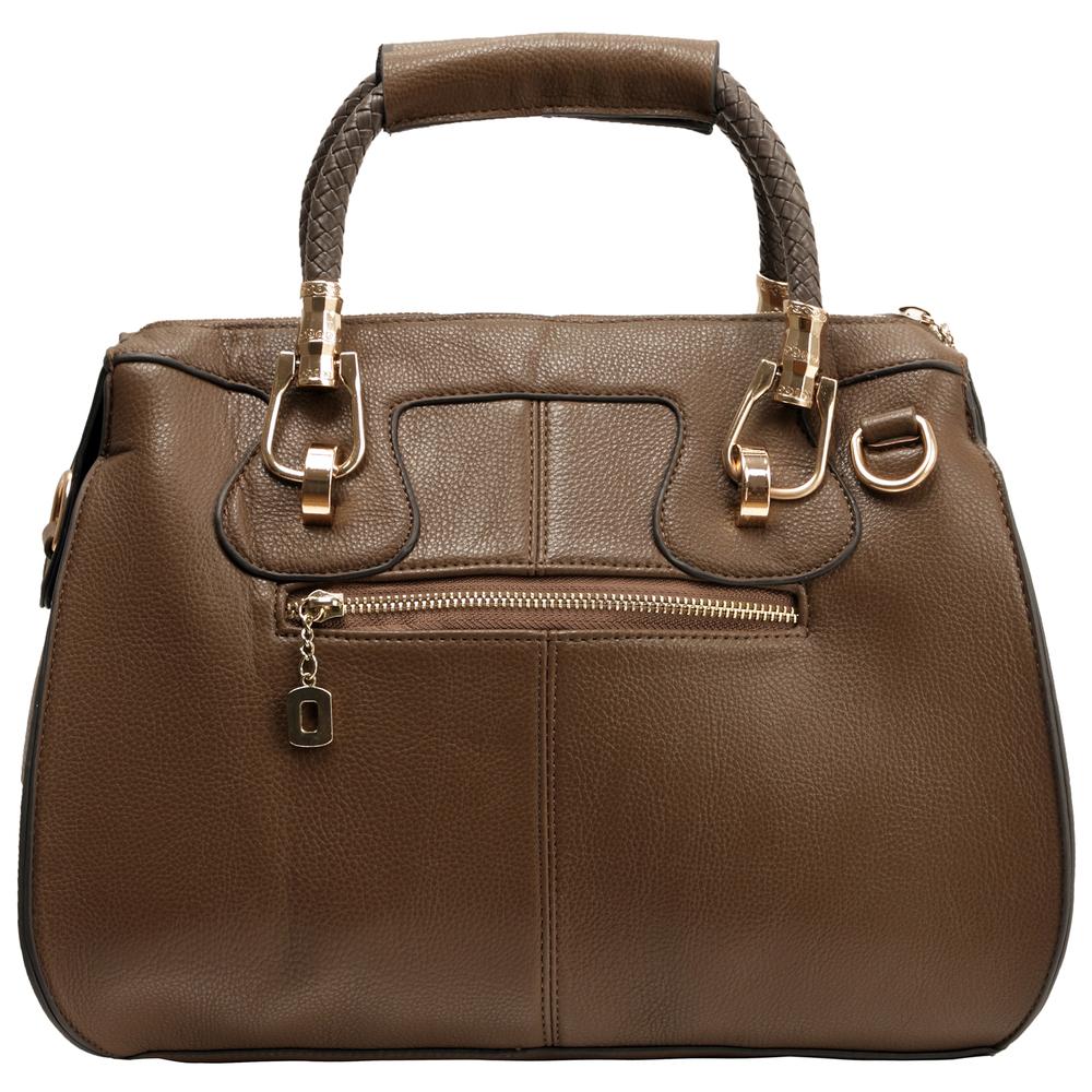 MARISSA Taupe Doctor Style Handbag Back