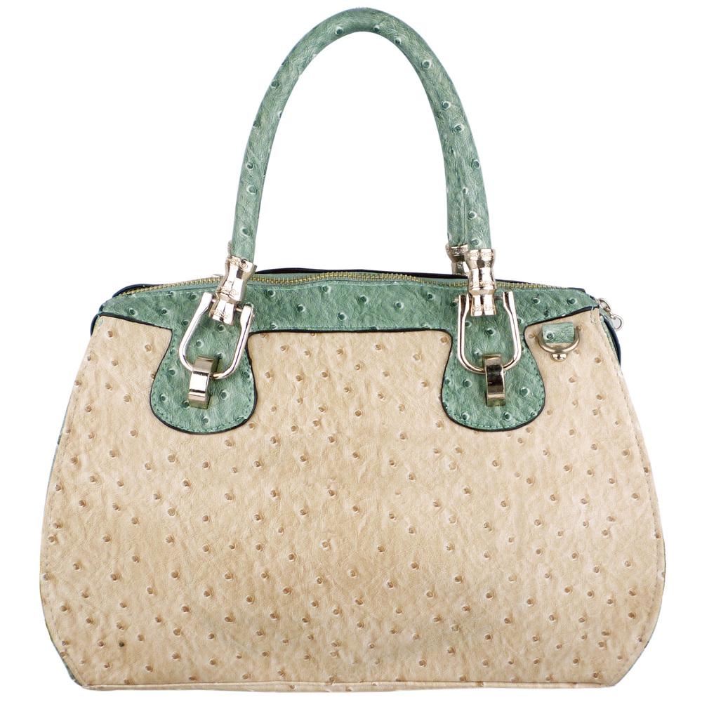 MARISSA Green Doctor Style Handbag Front
