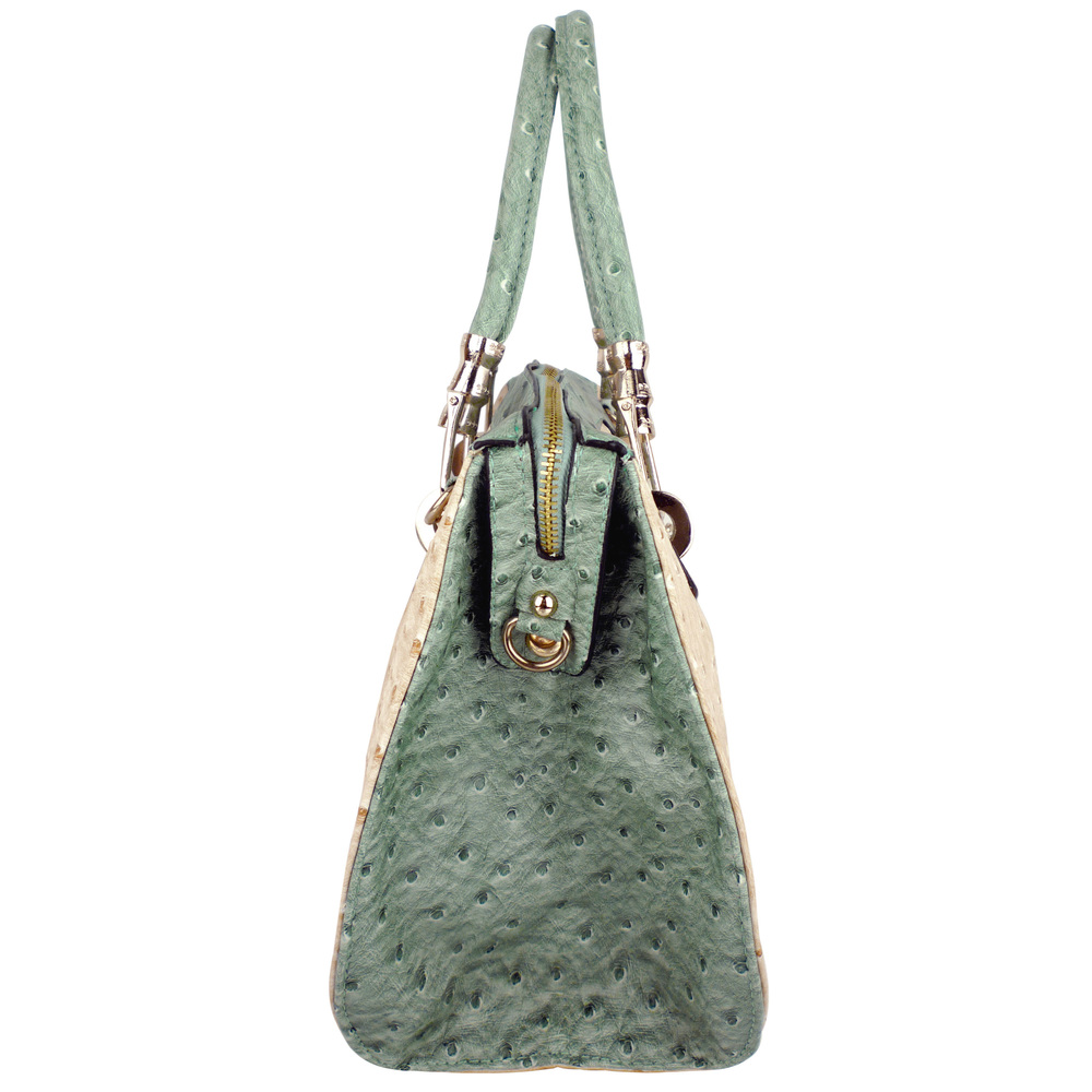 MARISSA Green Doctor Style Handbag Side