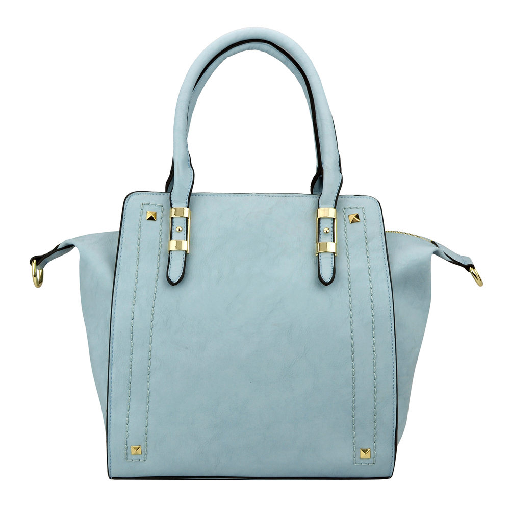 LEA Blue Top Handle Office Tote Purse Front